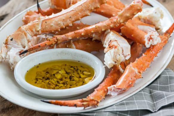 King Crab Legs With Spicy Garlic Oil Whole Foods Market