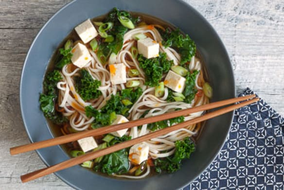 Fast Udon Soup With Tofu And Greens Whole Foods Market
