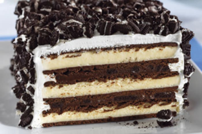 Simple way to make ice cream cake oreo vanilla
