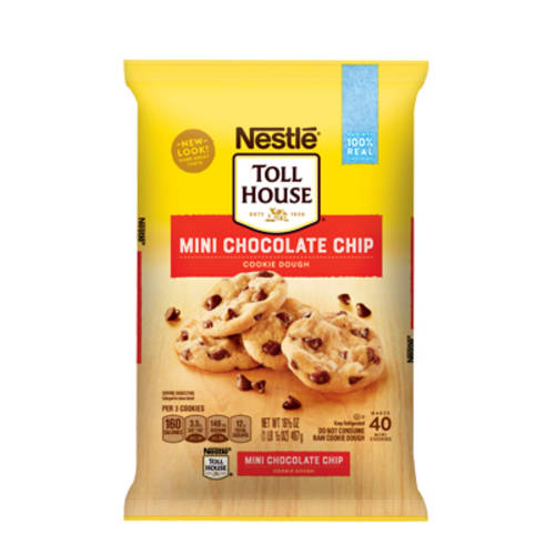 NESTLER TOLL HOUSER Refrigerated Mini Chocolate Chip Cookie Dough