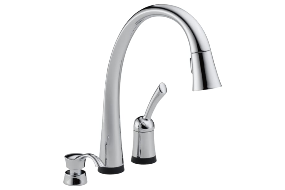 Single Handle Pull-Down Kitchen Faucet with Soap Dispenser 19950 ...