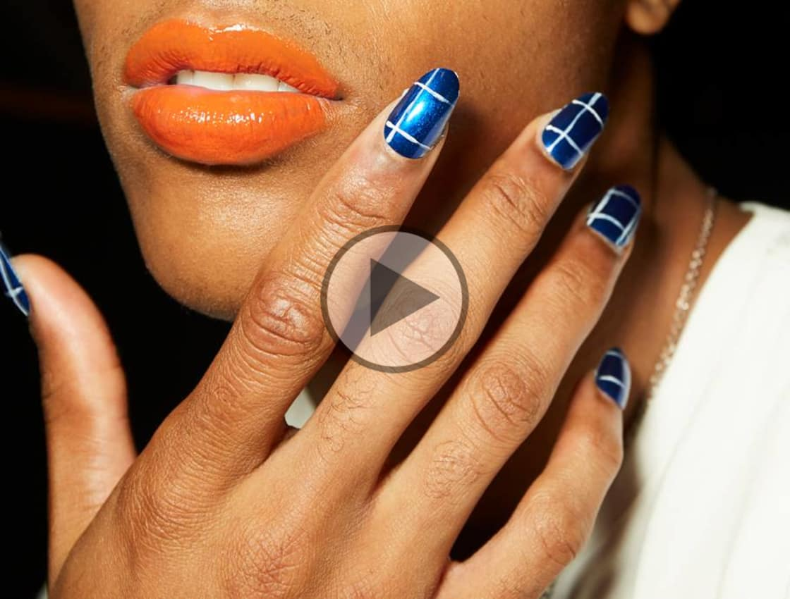 Fashion style Nail simple art prabal gurung for lady