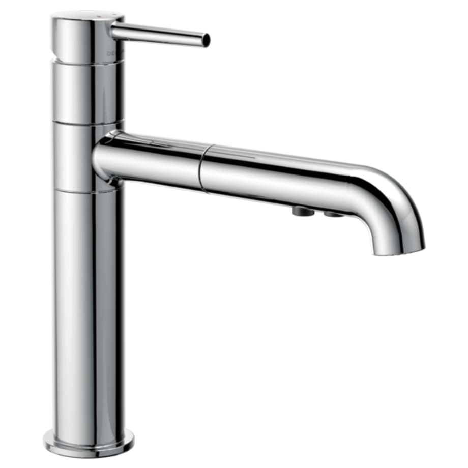 Single Handle Pull Out Kitchen Faucet 4159 Dst Delta Diagram As Well Double Sink Drain Plumbing On