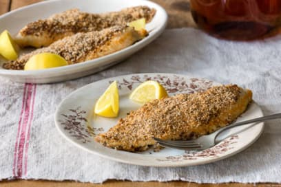 broiled catfish with thyme bread crumbs