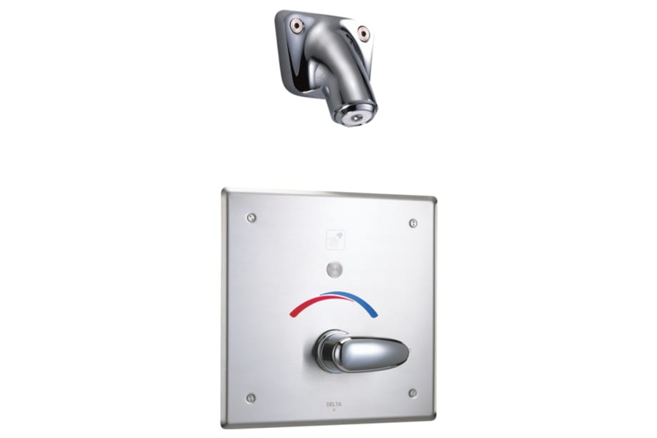 Electronic Shower Trim with Push Button Activator  Hardwire. T13691   Monitor  13 Series Tub and Shower Trim   Push Button Diverter